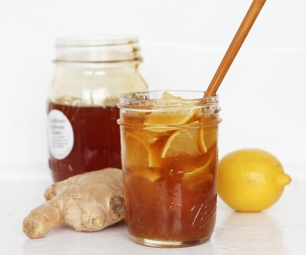 Lemon, ginger, and honey