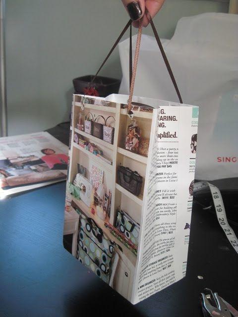 Magazine gift bag