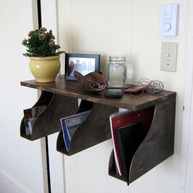 Mail rack diy