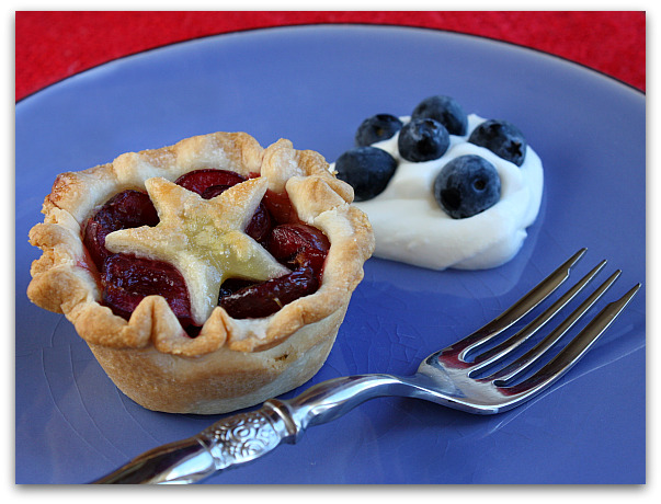 Mini cherry pie cups
