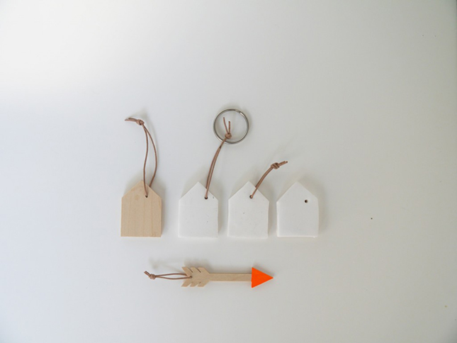 Mini home key chains