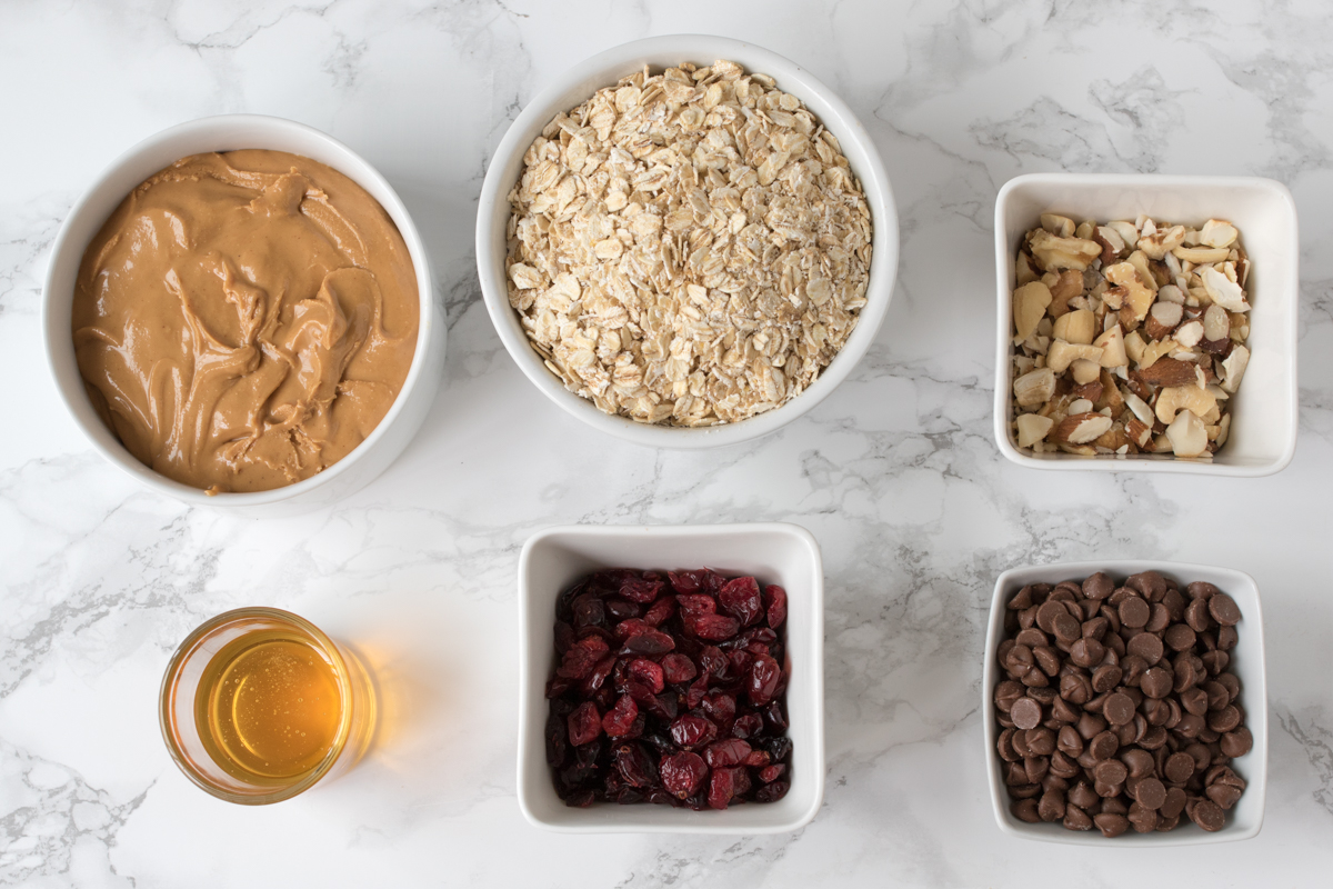 No bake peanut butter granola bars ingredients