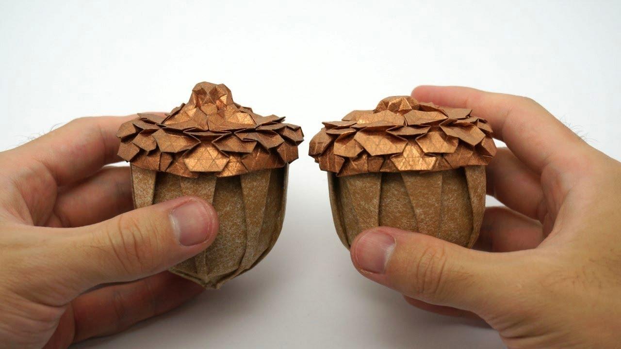 Origami acorn