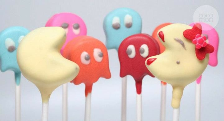 Pac man cake pops