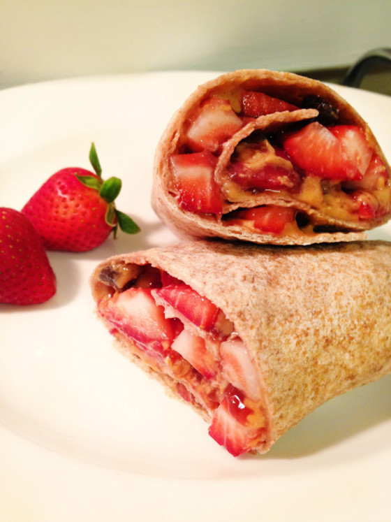"Peanut butter and jelly ""burrito"""
