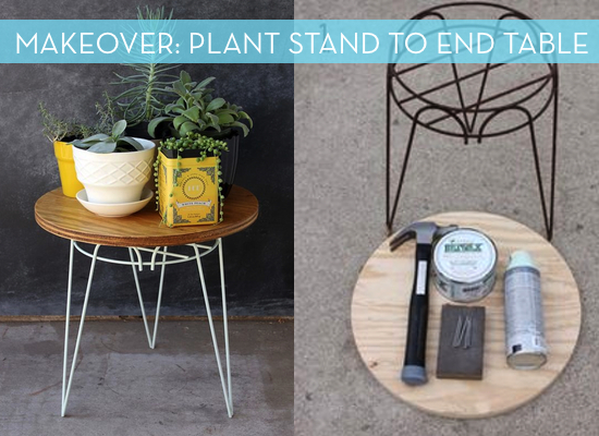 Plant stand end table