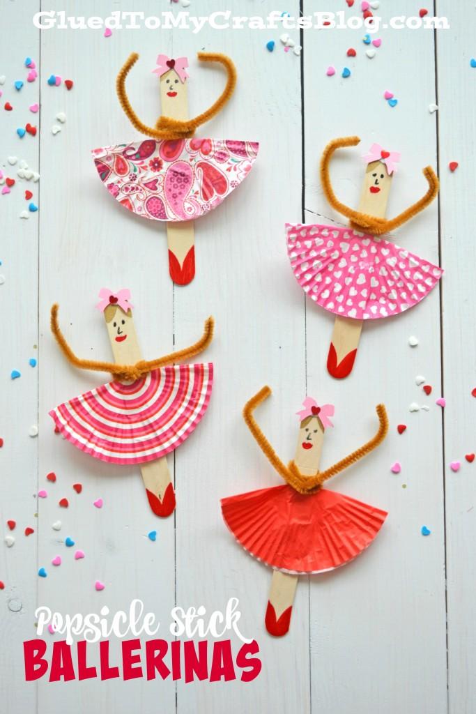 Popsicle stick ballerinas