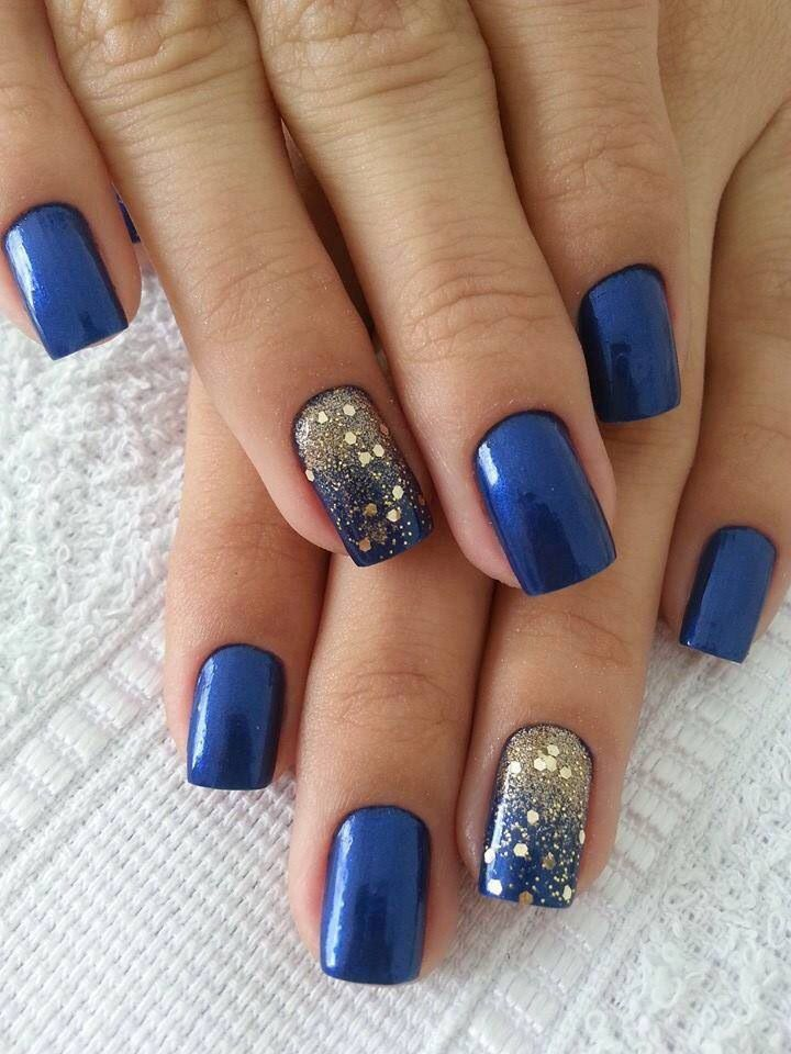 Cute nails to show off your love for blue glitter gradient nail bed prinsesfo Gallery