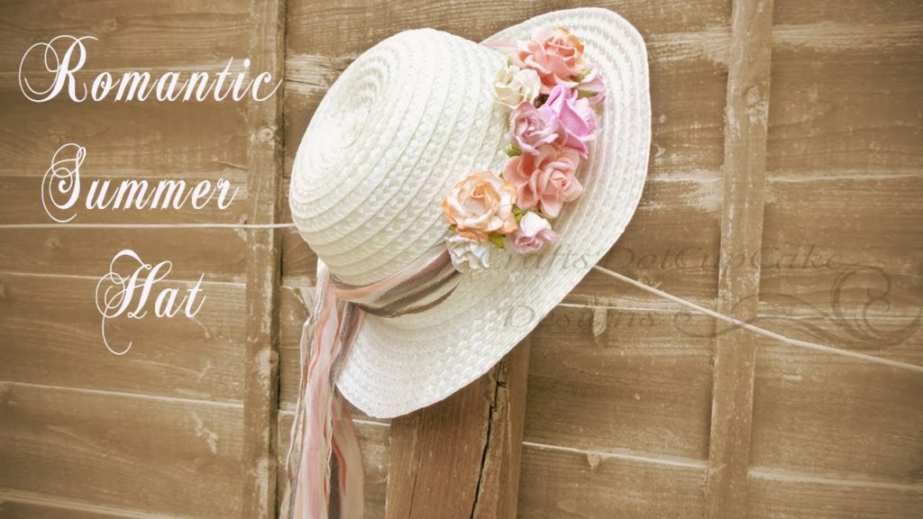 Romantic floral summer hat