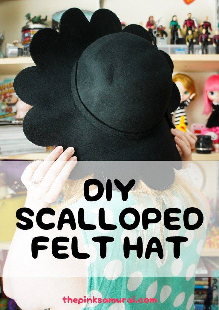 Scalloped felt hat
