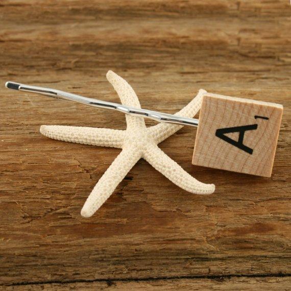 Scrabble bobby pin