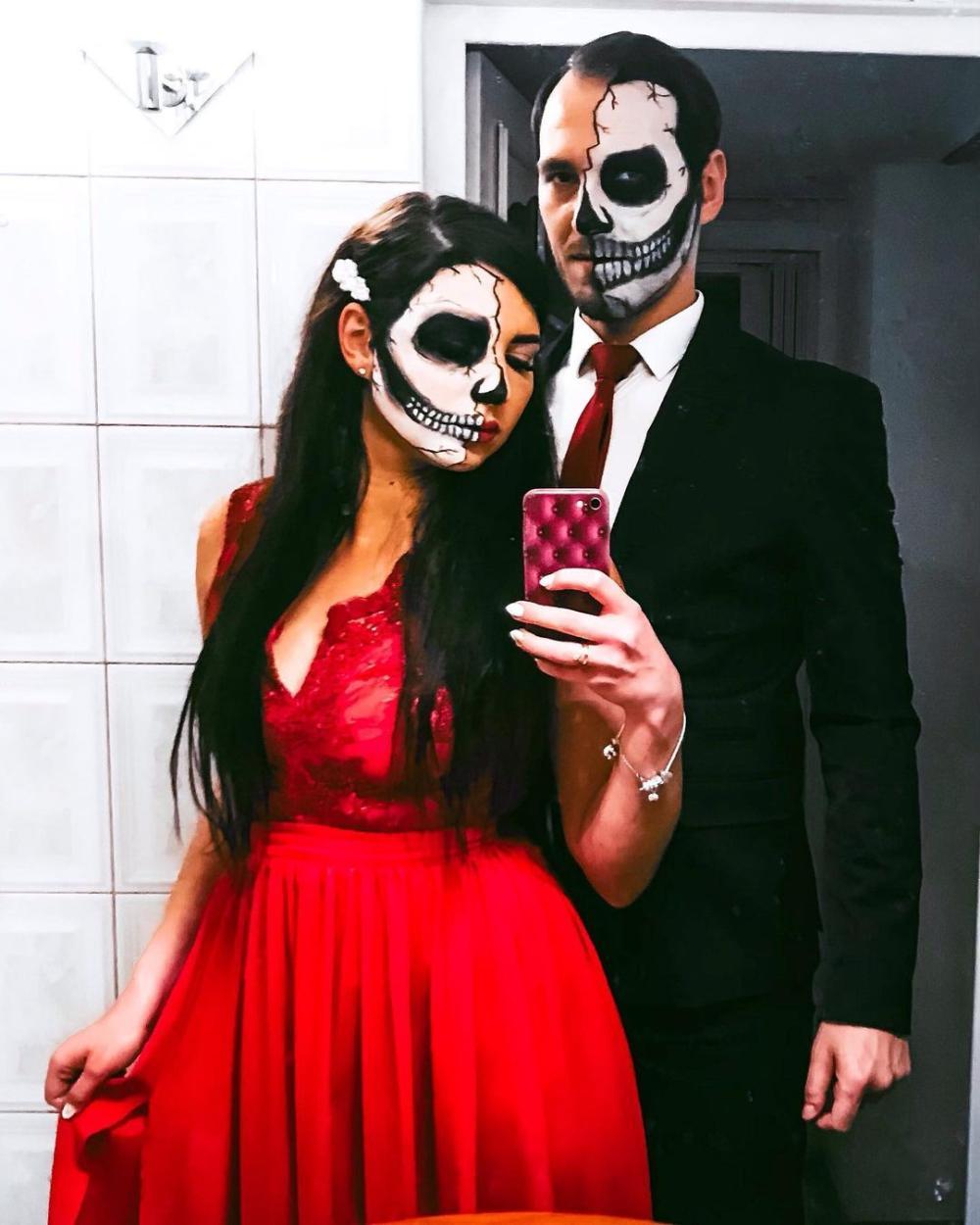 Skeleton diy couples costumes