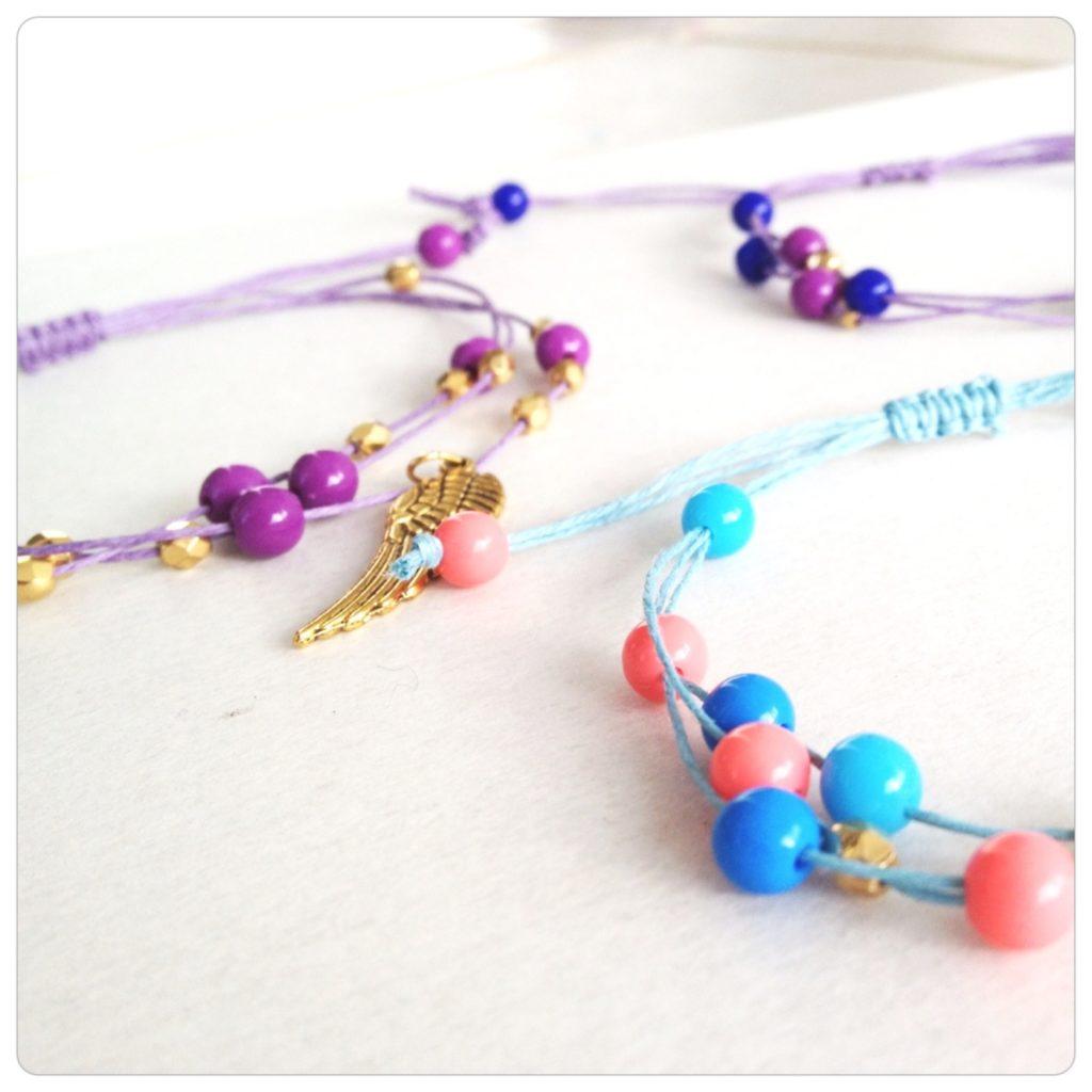 Sliding hemp bracelets