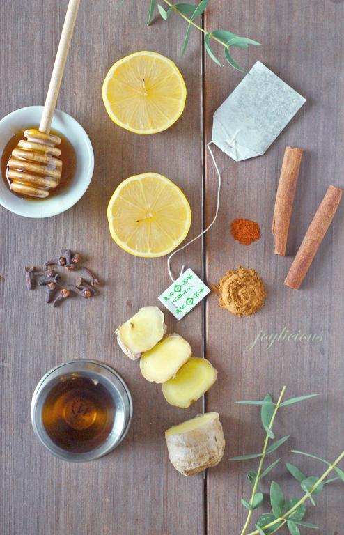 Spicy lemon ginger toddy