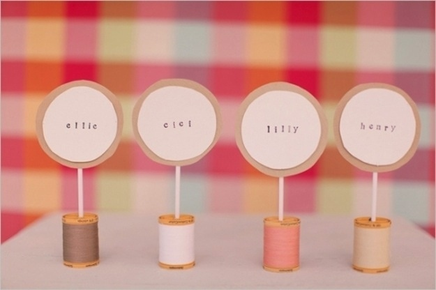 Spool Of Thread Place Cards