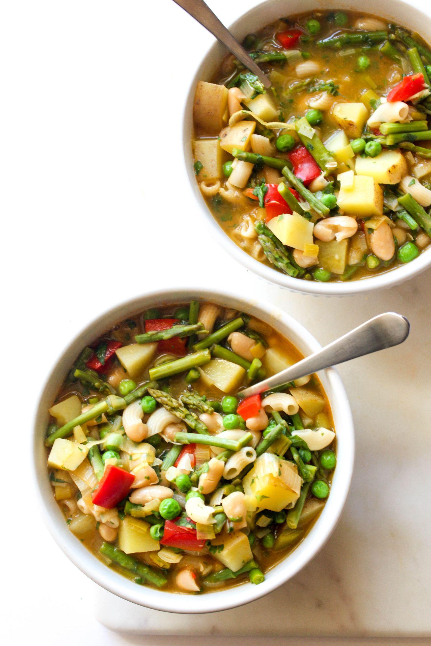 Spring minestrone recipe pots