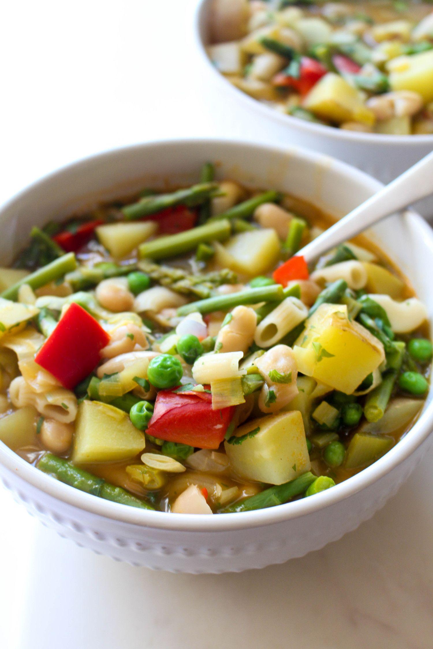 Spring minestrone recipe ready
