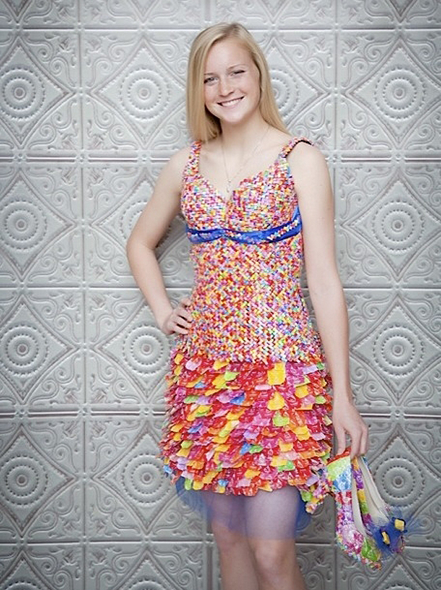 Starburst wrapper dress