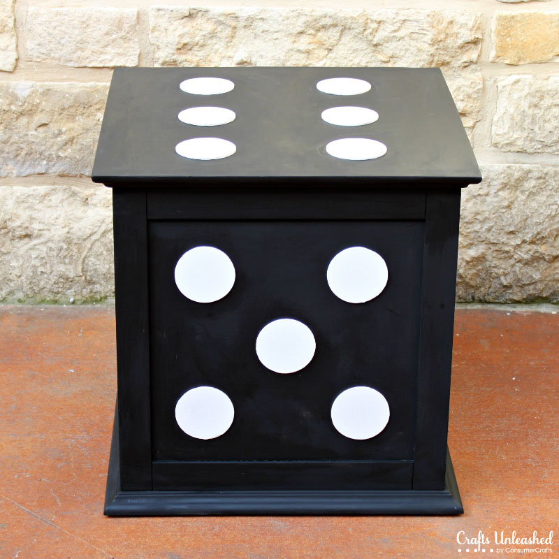 Storage cube end table