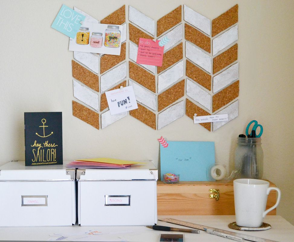 Stylish cork board cut outs