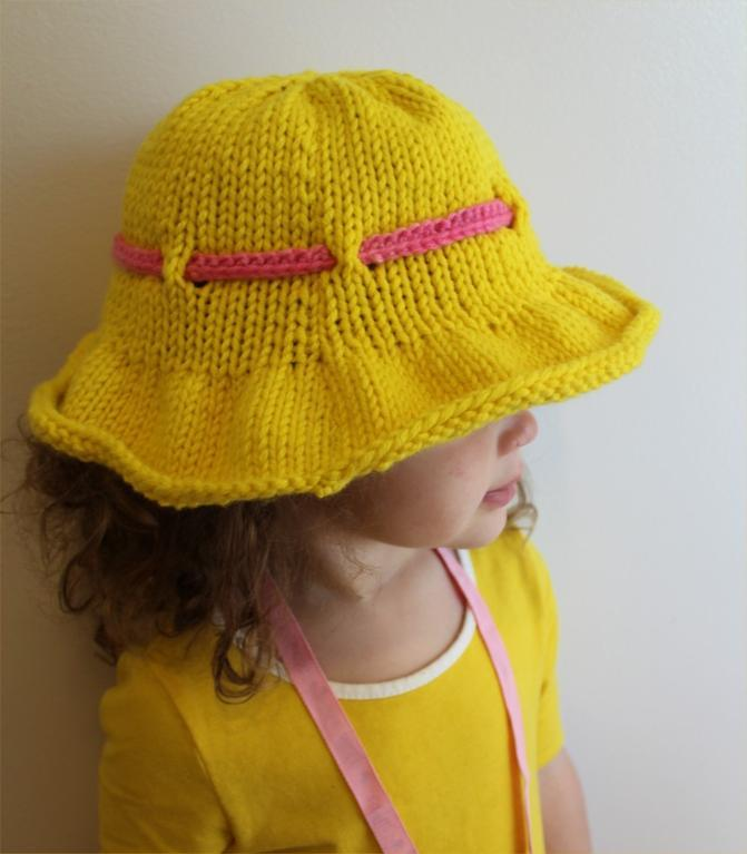 Sun brim hat by the knitting niche