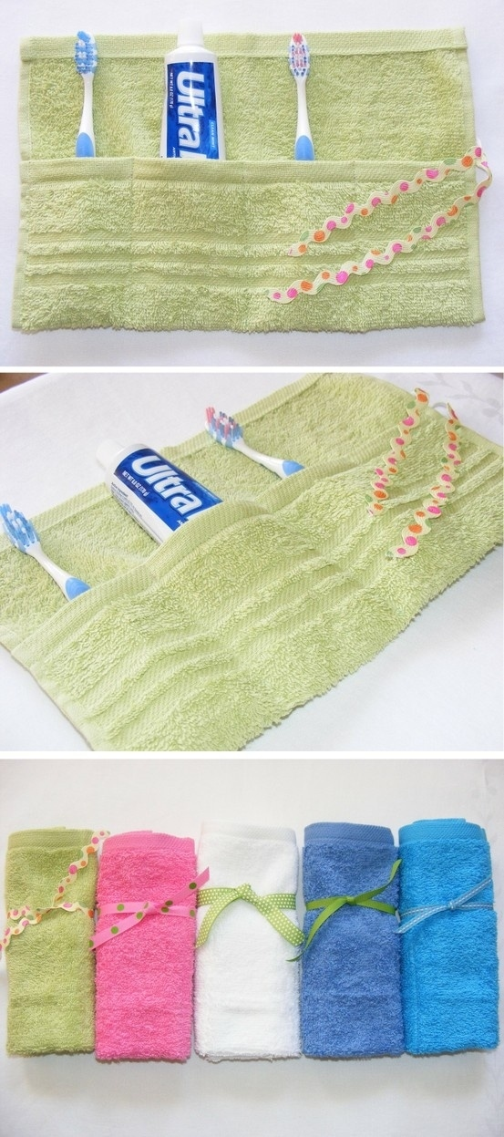 Terrycloth travel pouch