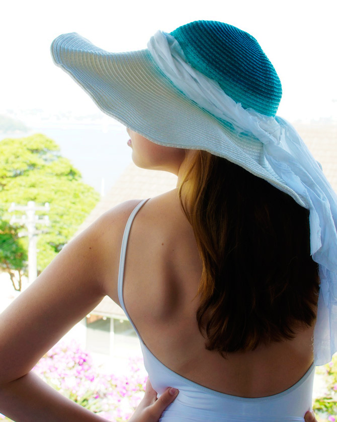 Top ombre sun hat
