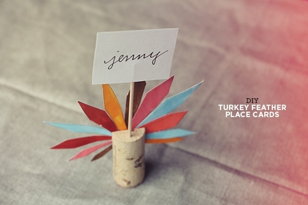 Turkey cork place cards