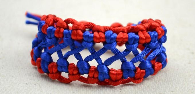 Two coloured woven hemp bracelet