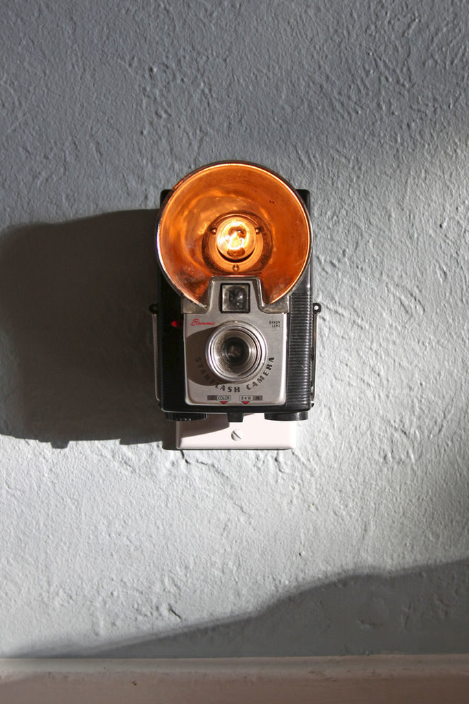 Vintage camera night light