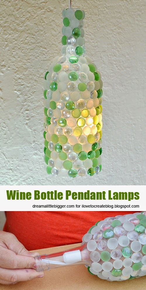 Win bottle pendant lamps