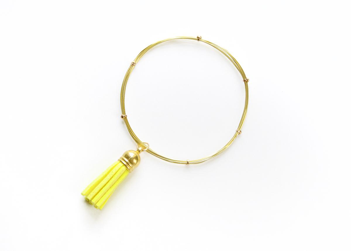 Wire tassel bracelet 6