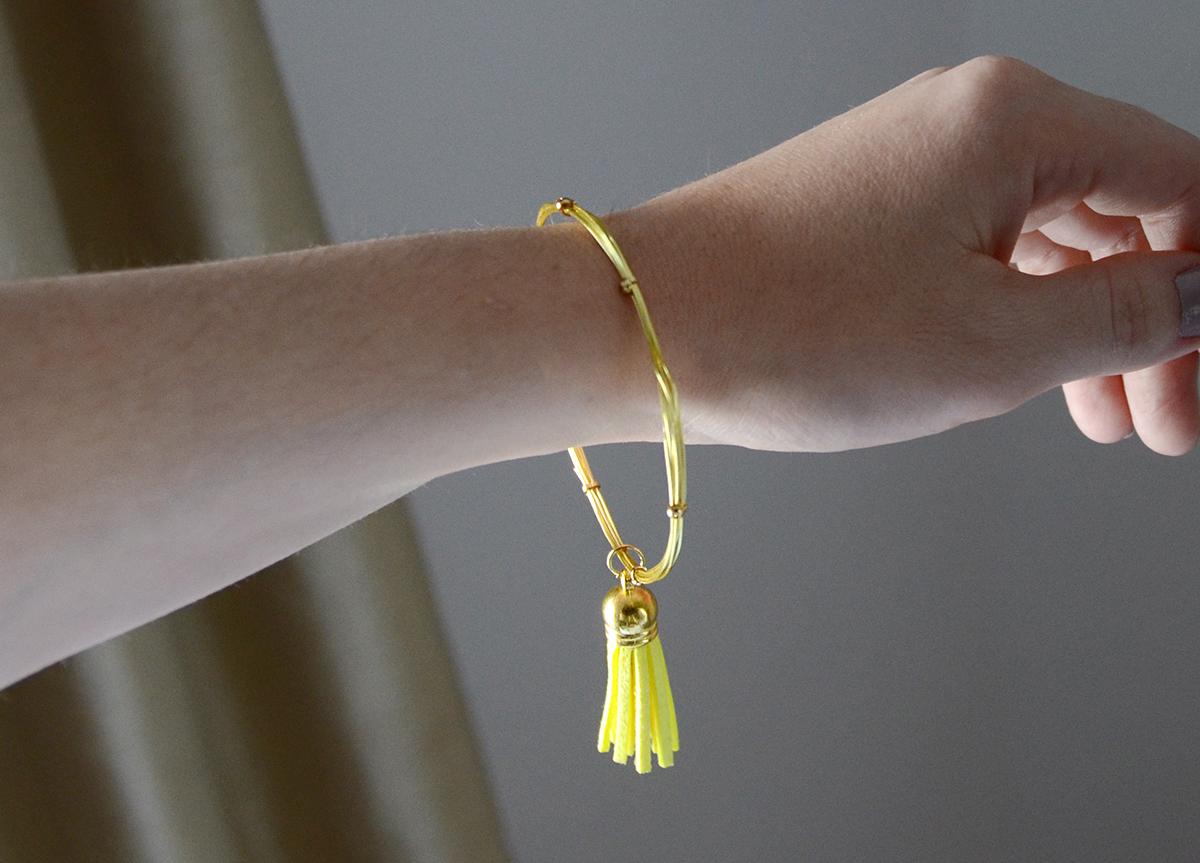 Wire tassel bracelet 7