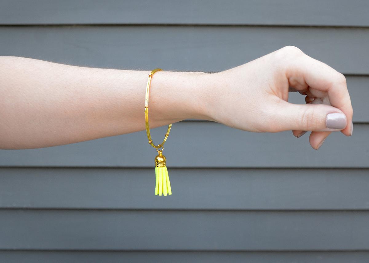 Wire tassel bracelet 8