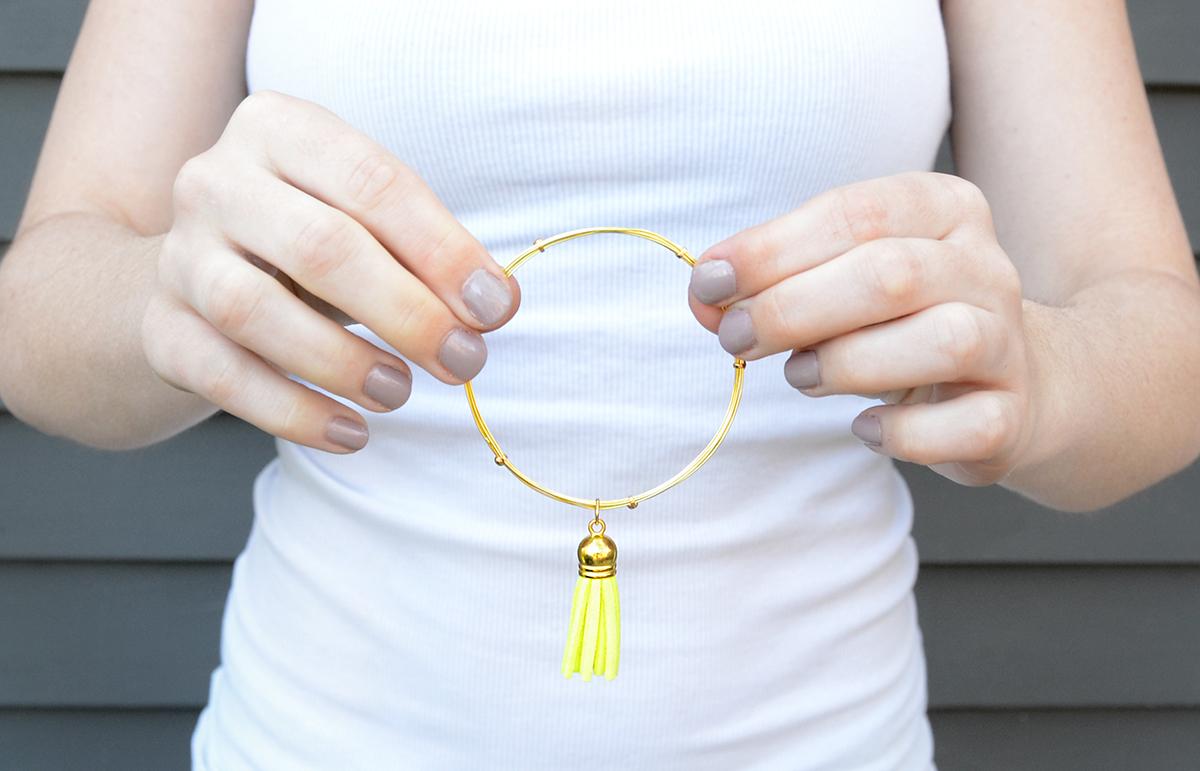 Wire tassel bracelet 9