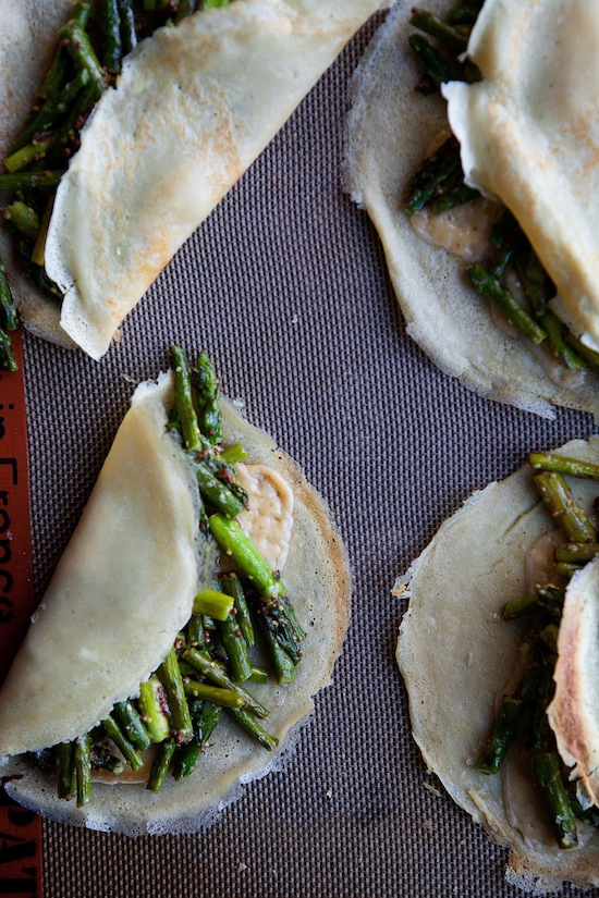 Asparagus crepes
