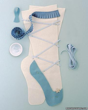 Ballerina christmas stocking
