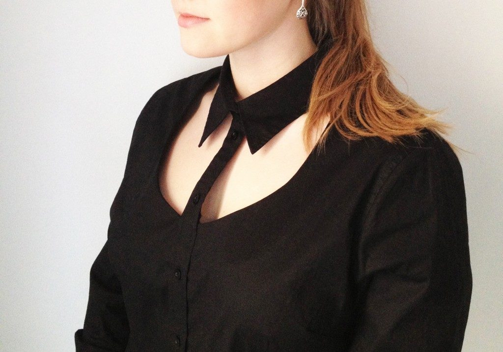 Cut out collar
