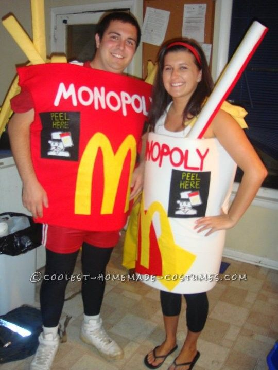 Diy mcdonalds couple costume