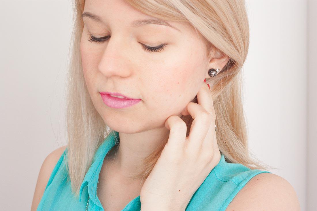 Diy tribal stud earrings wear