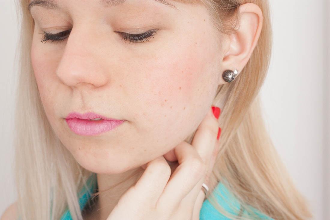 Diy tribal stud earrings wear2
