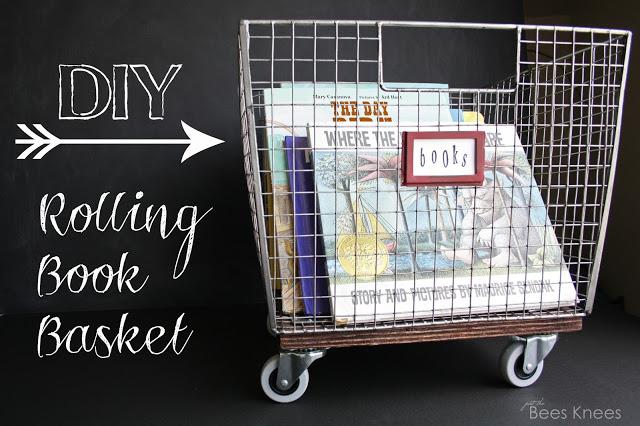 Diy rolling book basket