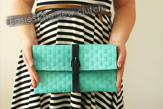 Easiest no sew clutch