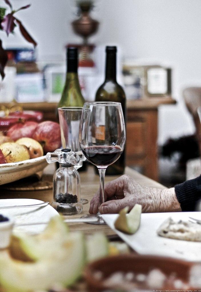 Elderly hand benefits of wine