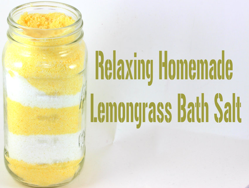Lemon grass bath salt diy