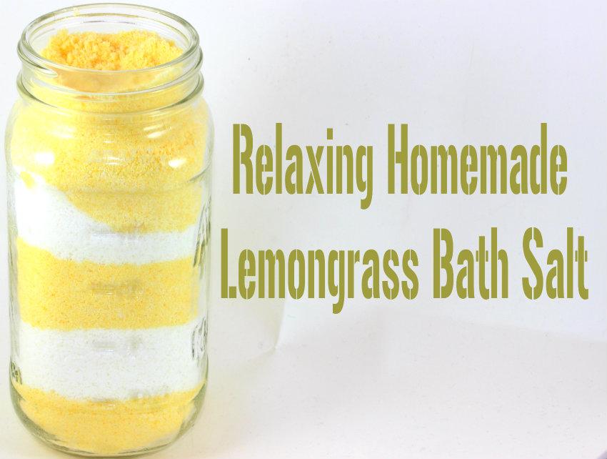 Lemon grass bath salt diy