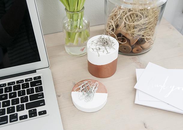 Magnetic desk accessories