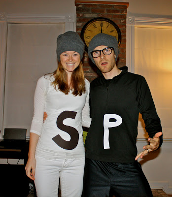 Salt and pepper diy costume