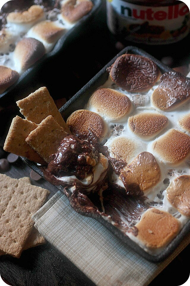 S'mores dip with nutella