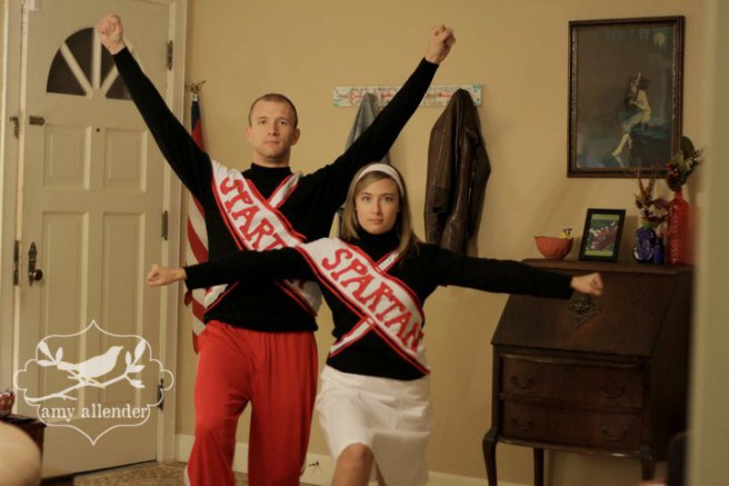Spartan Cheerleaders Matching Couple Outfits